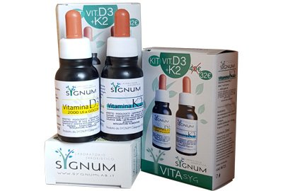 Vitamina D3 e vitamina K2 - KIT sygnum - promozione